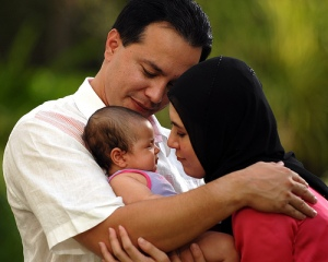 happy family The Anchor Mom: Unhappy Marriages May Mean Sleepless Babies