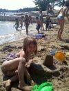 My daughter enjoying the beach